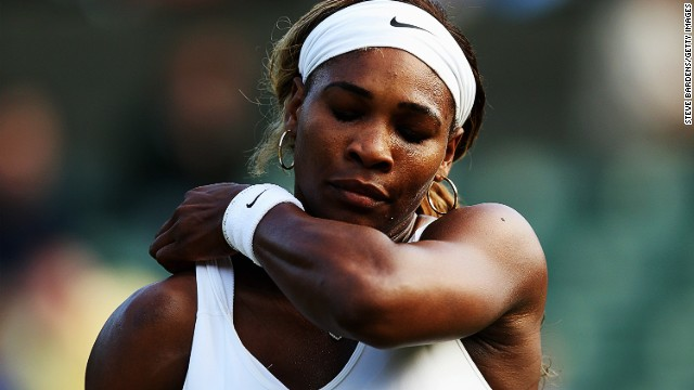Serena Williams' bad run of form at grand slam tournaments in 2014 continued on Saturday.