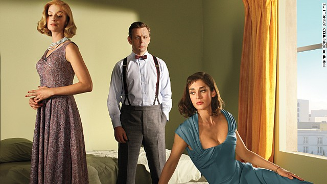 "Science is sexy on ""Masters of Sex,"" which is based on real events. Research by Dr. William Masters (Michael Sheen) and Virginia Johnson (Lizzy Caplan) sets off the sexual revolution of the 1960s as they delve into the science behind human sexuality. Season two returned Sunday on Showtime. Also pictured: Caitlin Fitzgerald as Libby Masters, left. Click through our gallery to see other favorite historical shows."