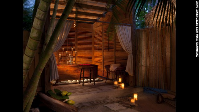 Come to Little Palm Island Resort for a bamboo shower in the rustic Florida Keys.