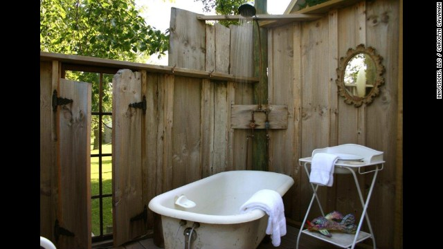The Tryon Farm Guest House is just south of Lake Michigan in Indiana, channeling the vibe of the American Midwest with an outdoor shower and other earthy charms.