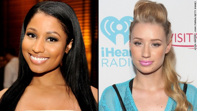 Rappers Nicki Minaj and Iggy Azalea were thought to have beef after Minaj made a pointed statement <a href='http://www.cnn.com/2014/06/30/showbiz/tv/lionel-richie-bet-awards/index.html' target='_blank'>at the BET Awards</a> about writing her own rhymes. Some took that as a not-so-subtle jab at Azalea, but both rappers have tried to squash rumors of a feud.
