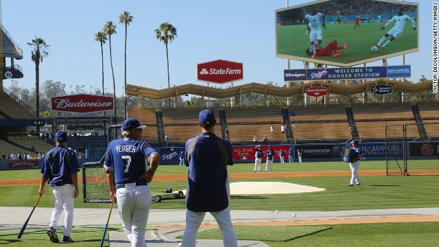 Even the Los Angeles Dodgers took a break from training to watch the U.S. play Ghana. American TV audiences have increased almost 50% from the previous World Cup in South Africa, from 2.8 million in 2010 to 4.3 million in 2014.
