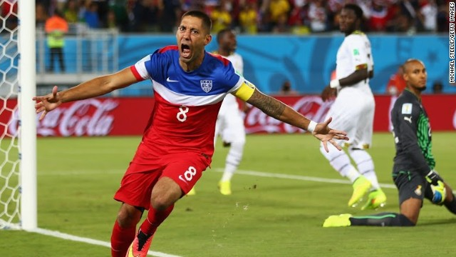 It took Clint Dempsey just 32 seconds to score the USA's first goal of the tournament.
