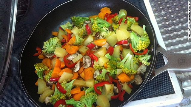 The Frenchman says he ate a lot of raw and cooked vegetables, but without seasoning since he didn't find any. His favorite found foods included a jar of honey, dried apricots and cakes.