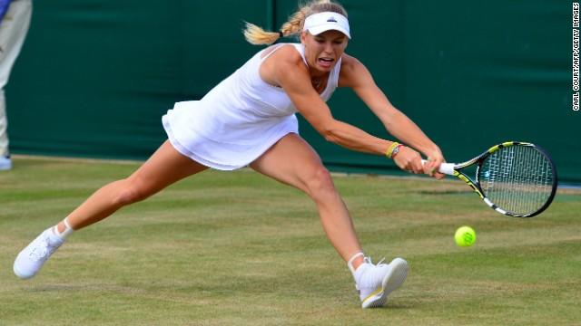 Caroline Wozniacki (pictured) was knocked out on Monday, beaten 6-2 7-5 by the Czech Republic's Barbora Zahlova Strycova. Victory p