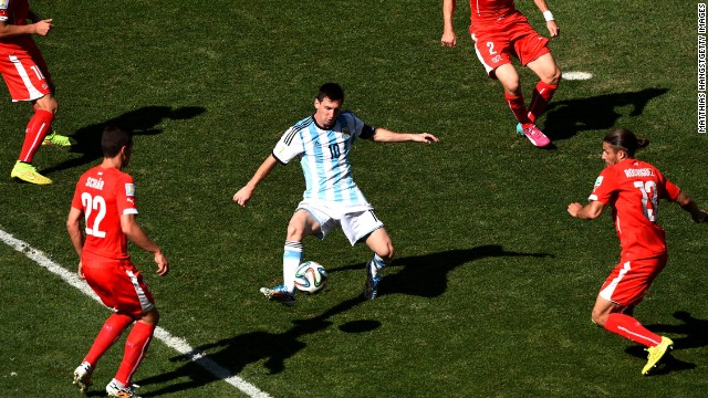 Messi was a marked man during Argentina's last 16 match against Switzerland and will receive similar attention from the Dutch in Wednesday's semifinal.
