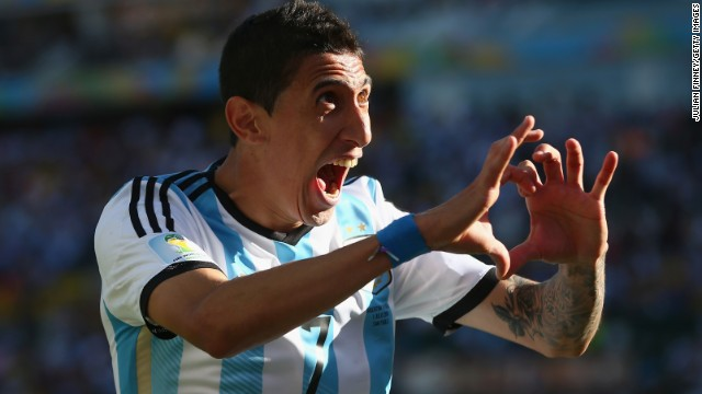 Di Maria's goal came late in extra time when it appeared that the game was heading toward a penalty kick shootout.
