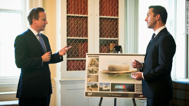 Ben Ainslie meets with British prime minister, David Cameron at 10 Downing Street Tuesday. The British government has committed £7.5million ($12.8 million) of funding to the Olympic champion's sailing team and their new state-of-the-art base in the city of Portsmouth.