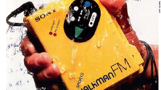 "The Walkman was a delicate piece of tech that you could carry around with you, as long as you were careful with it. Then came the ""Sports Walkman,"" the WM-F5, in 1984, with an extra-thick plastic casing that made it water resistant and more durable."