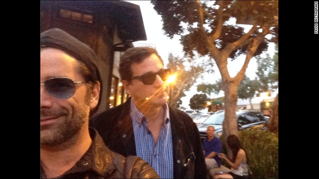 "Comedian Bob Saget, right, <a href='http://instagram.com/p/p0ATnXTP2P/' target='_blank'>posted a selfie</a> with his former ""Full House"" co-star John Stamos on Saturday, June 28. ""Sunset Stamos selfie,"" he wrote on Instagram."