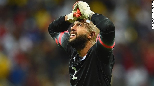 American goalkeeper Tim Howard came up with big saves time and time again to keep his team in the match.