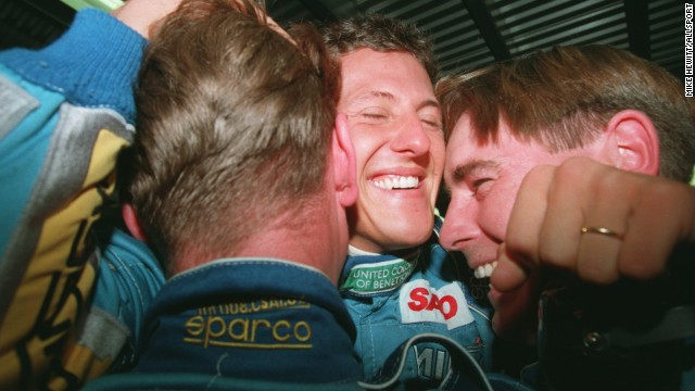 Schumacher won his first world title with Benetton in 1994 -- he went on to repeat the feat the following season.
