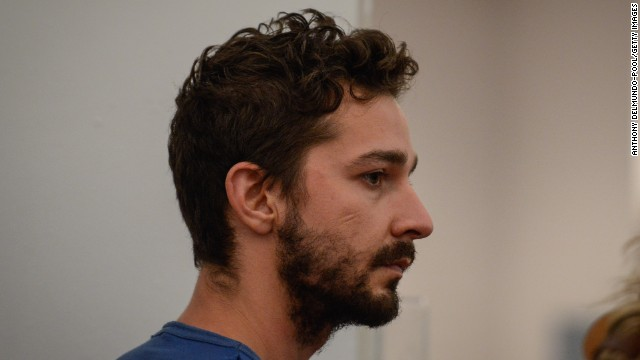 Shia LaBeouf's recent bizarre behavior culminated in his being <a target=
