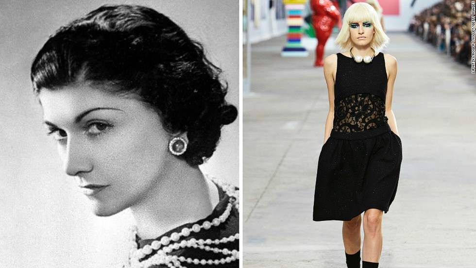 """<i>Coco Chanel, the little black dress</i><!-- --> </br><!-- --> </br>A staple of women's wardrobes across the wardrobes across the world, the little black dress has become synonymous with refined style and elegance. Its simple form was championed by numerous designers, but it was the legendary French couturier Coco Chanel who came to be identified with it. <!-- --> </br><!-- --> </br>""""Coco Chanel was a very chic woman herself and that was an element that helped her stand out"""", says Patricia Mears, deputy director of the Fashion Institute of Technology in New York. """"She was able to adapt the design of her little black dress throughout the decades, and her own style helped her version of it rise above all others.""""<!-- --> </br><!-- --> </br>By <strong><a href='https://twitter.com/M_Veselinovic' target='_blank'>Milena Veselinovic</a></strong>, for CNN"""