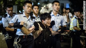 Hundreds arrested at HK sit-ins