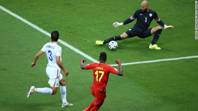 "Team USA goalkeeper Tim Howard became a national hero after he made a remarkable 16 saves in the 2-1 defeat to Belgium. Social media was awash with tributes to the Everton stopper, who was christened the ""Secretary of Defense"" -- a measure of how the tournament captured the imagination."