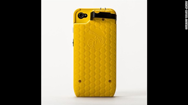 Another personal-protection case, the <a href='http://www.yellowjacketcase.com/]' target='_blank'>Yellow Jacket</a>, packs a powerful stun gun and was developed by a former military police officer. The Yellow Jacket's case delivers 650,000 volts of electricity to would-be assailants, retails for about $100 and is available for iPhone 4 and 5.