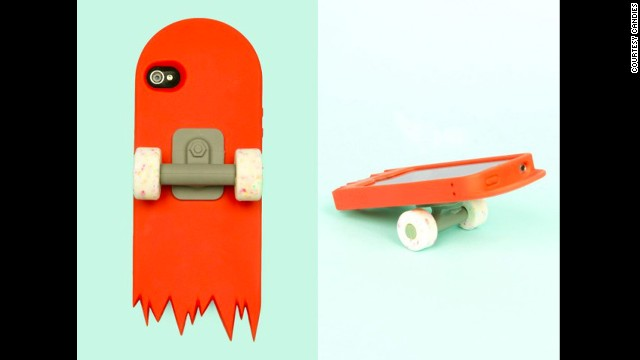 Designed for fun rather than functionality, this <a href='http://www.openingceremony.us/products.asp?menuid=2&designerid=1329&productid=53751' target='_blank'>skate deck</a> iPhone case by Candies is like having half a tiny skateboard around your phone. The wheels work, but probably aren't convenient when talking on your phone.