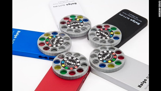 <a href='http://shop.holgadirect.com/products/holga-iphone-4-lens-filter-case-kit-slft-ip4' target='_blank'>Holga's</a> Filter and Lens Kit features color and special-effect lenses, with no software needed. Geared to photographers, the case sells for about $25. Its dial has 9 different lenses, including one for no-effect images in case you just want a regular photo. Or you can just use Instagram.