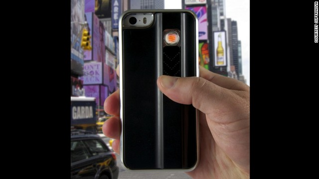 Smokers are likely familiar with the inconvenience of not having a lighter, or having the wind blow it out once they do find one. <a href='http://www.gadgetsandgear.com/lighter-phone-case.html?utm_source=lighter-phone-case&utm_medium=shopping%2Bengine&utm_campaign=Google_Products&gclid=CjgKEAjw286dBRDmwbLi8KP71GQSJAAOk4sj6fmI88wjN995GYVzGdjcOCtShrgxorwS_VvPINV9EPD_BwE' target='_blank'>SuperNova's</a> flameless lighter case uses an electric coil, so smokers don't have to worry about refilling fluids -- or hunting for a light. Price: about $35.