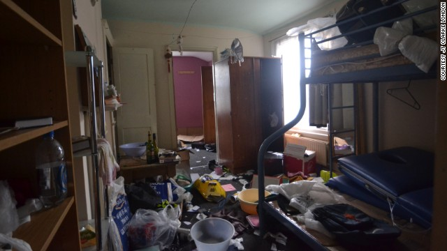 Items clutter the floor of a three bedroom house in Peckham, south London, that owners and estate agents hope to sell for £650,000 ($1.1 million).