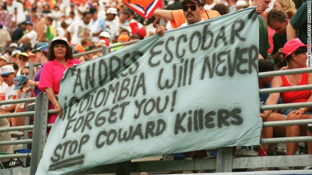 Escobar's death came at a volatile and violent chapter in Colombia's history. But its current crop of players have been an exuberant presence at this World Cup.