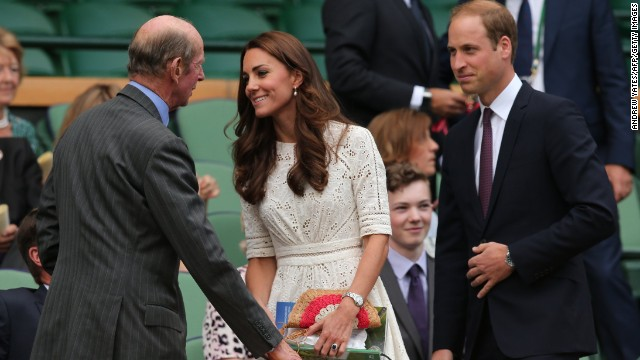 The Duchess of Cambridge, and her husband Prince William, the Duke of Cambridge, were in attendance in the Royal Box .