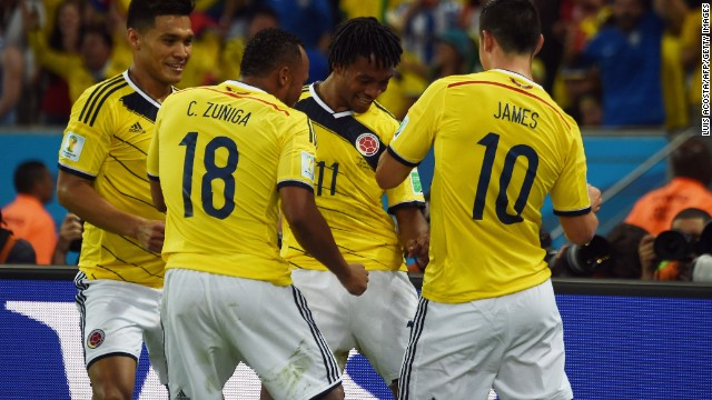 Escobar's murder was a dark moment in the country's history, but this new generation has danced its way into the quarterfinals, arguably led by the player of the tournament -- James Rodriguez.