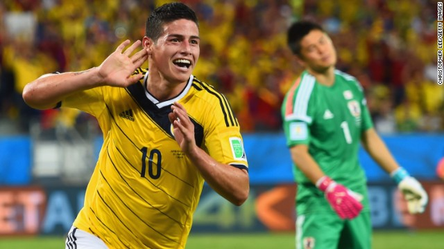 James Rodriguez is the stand out star in a vibrant Colombian team, who have won over legions of fans with its style, skill and choreographed goal celebrations. It makes its first ever appearance in the World Cup quarterfinals on Friday when facing hosts Brazil. Escobar's brother Jose and sister Maria Ester will be in attendance.