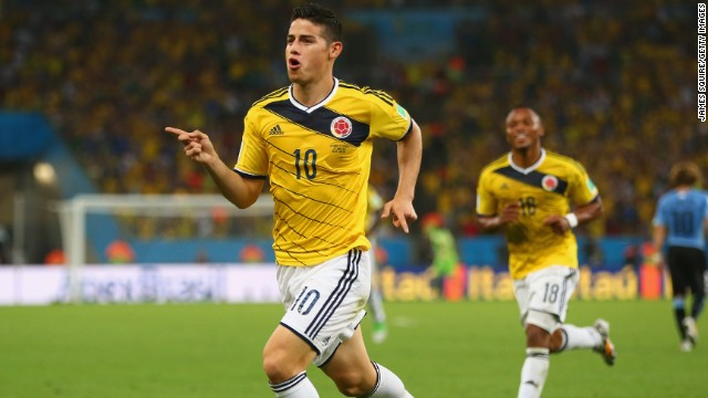 Rodriguez's spectacular volley in the last -16 win against Uruguay was named the 2014 World Cup's best goal.