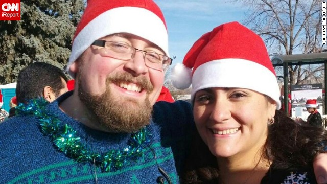 "In December 2012, the couple ran the local 5-kilometer ""Ugly Sweater Run."" Jess finished ahead of Rob, and he vowed to improve his time."