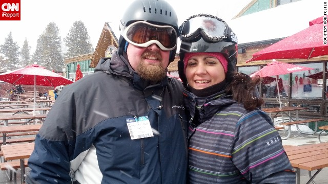 By March 2013, Rob had lost 47 pounds and felt good enough to go skiing for the first time in more than 10 years.