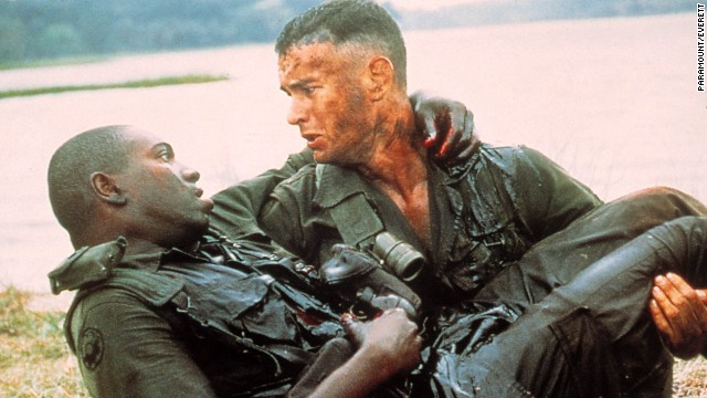"Mykelti Williamson, left, stars as Gump's Army buddy Benjamin Buford ""Bubba"" Blue, who has an affinity for shrimp."