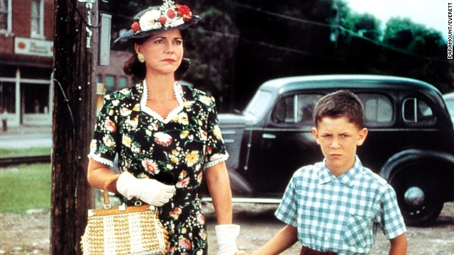 Sally Field plays Forrest's loving and practical mother, Mrs. Gump.