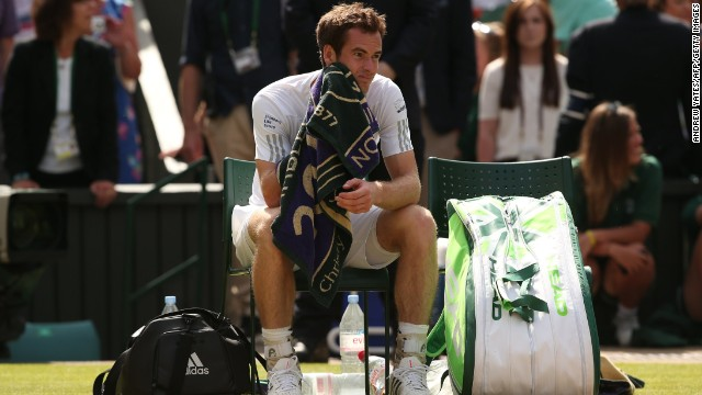 Murray is left to reflect on a disappointing afternoon after being outplayed by Dimitrov.