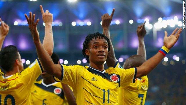 Alongside Rodriguez and Martinez, Juan Cuadrado has been another key player for Colombia and the Fiorentina winger scored a well taken penalty in their 4-1 victory over Japan.