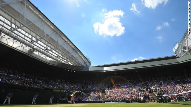 The sun shone down on Wimbledon's Centre Court on day 10 of the tournament.