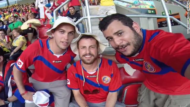 La aventura de tres jóvenes para ver triunfar a Costa Rica en el Mundial