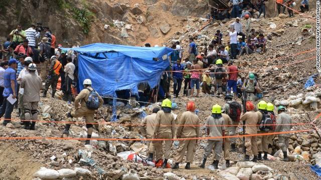 Continúan operaciones de rescate de mineros atrapados en el sur de Honduras