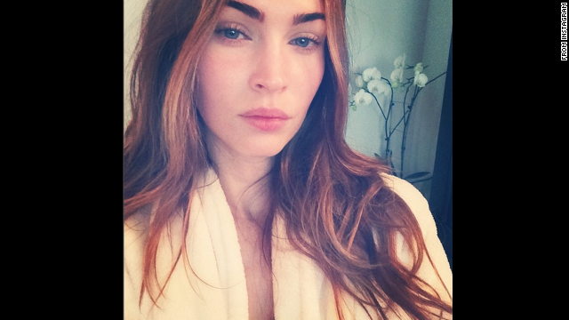 Megan Fox is an Instagram newbie, but she already has a knack for taking selfies. The star shared her first Instagram self-portrait -- and her second post to the site overall -- on July 3, telling her fans that although the photo was captured in the early morning without makeup, she definitely used a filter. Click through the gallery to see other stars who've gone makeup-free.