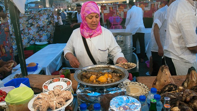 It doesn't sound appetizing, but a slow-cooked stew made from the head of a sheep is a favorite among Moroccans visiting Marrakech.