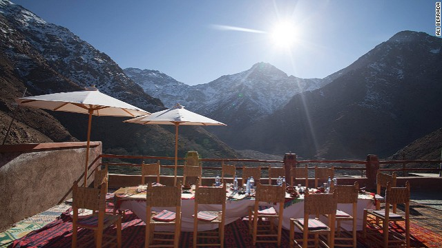 The Atlas Mountain village of Armed is the last stop before Toubkal, Morocco's highest mountain, the peak of which affords views over the Sahara.