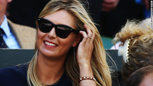 Maria Sharapova, who won the ladies singles title 10 years ago, was in attendance to cheer on Dimitrov.