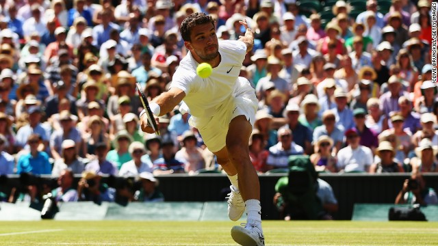 Dimitrov suffered an early setback in the second set, losing his serve as Djokovic threatened to overrun the Bulgarian. But Dimitrov hit b