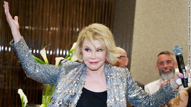 "Joan Rivers' sense of humor likely doesn't go over well at the White House. <a href='https://www.youtube.com/watch?v=ihP_q6UPUDA' target='_blank'>The comedian and TV personality joked</a> in July that America has its first gay POTUS in President Barack Obama, and went on to say that the first lady, Michelle Obama, is transgender. When reached for comment on her words, Rivers said, ""I think it's a compliment."""
