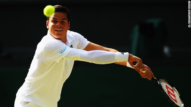 Things didn't improve much for Raonic in the second set. The 23-year-old dropped serve for the second the match during the ninth game.