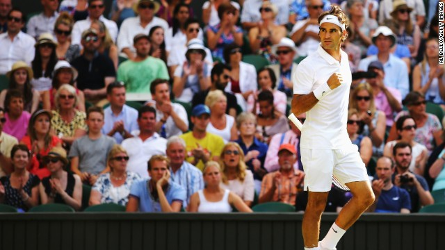 Federer went on to serve out the set and take a 2-0 lead going into the third.