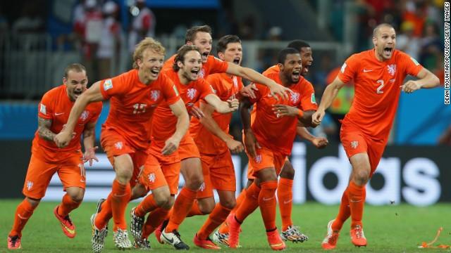 Cuartos de final: Holanda - Costa Rica