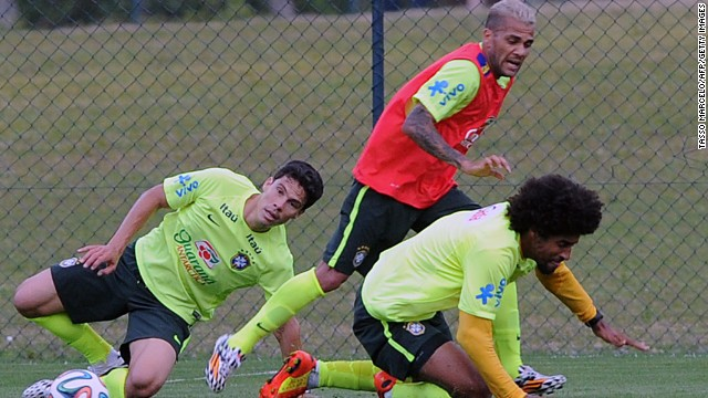 Colombia's conquerors Brazil have been training in Teresopolis ahead of its last four clash with Germany on Tuesday.