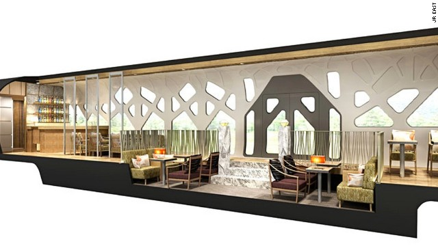 Japan Railway East's planned Cruise Train has a separate lounge car. Due for launch in the spring of 2017, no fares have yet been announced.